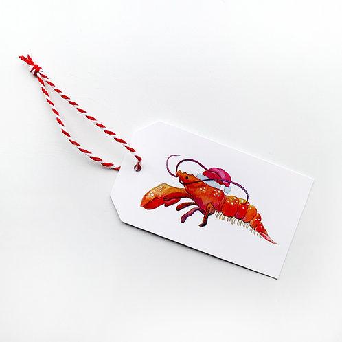Set of 6 Santa Claws Gift Tags