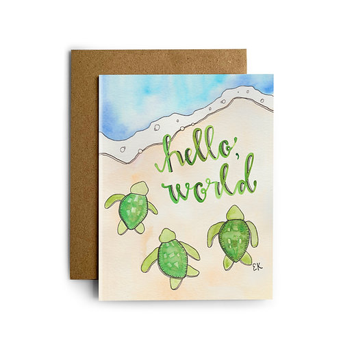 Baby Turtles Greeting Card