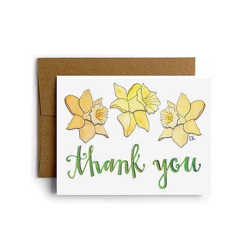 Daffodil Thank You Greeting Card