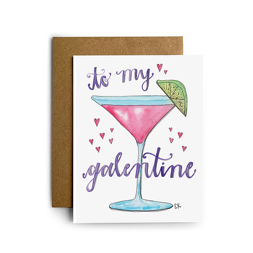 Galentine Cosmo Greeting Card