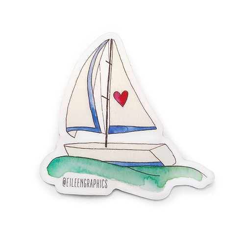 Set of 2 Sailboat Stickers