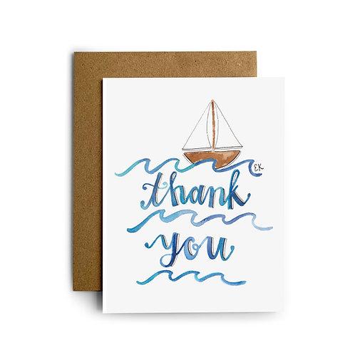 Thank You Sailboat Greeting Card