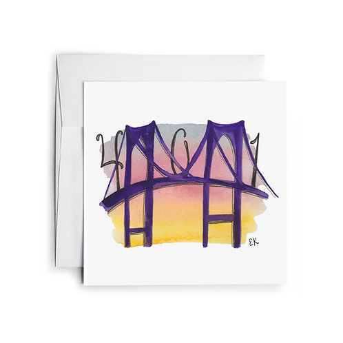 401 Bridge Greeting Card