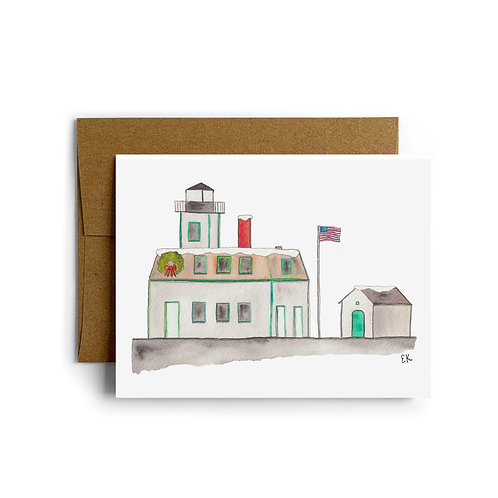 Rose Island Lighthouse Greeting Card