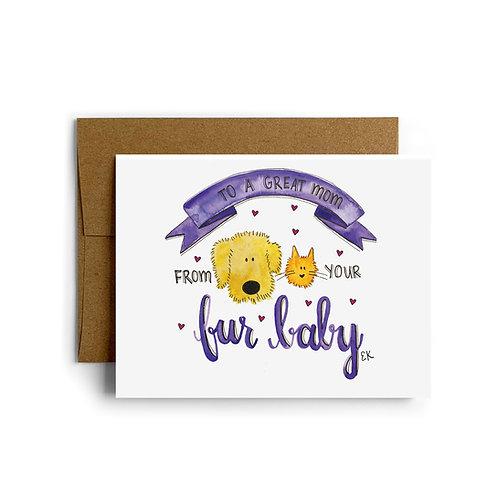 Fur Baby Greeting Card