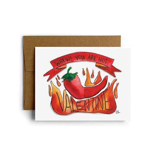 Chili Pepper Greeting Card