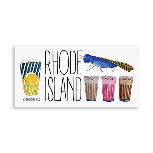 Rhode Island Things Bumper Sticker