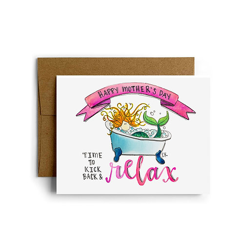 Mother's Day Mermaid Greeting Card