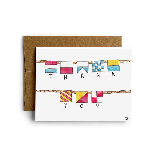 Thank You Nautical Flags Greeting Card