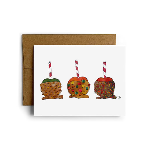 Candy Apple Greeting Card
