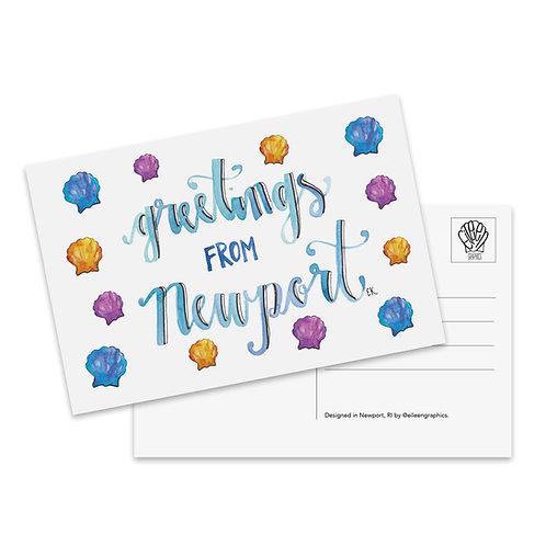 Greetings from Newport Postcard