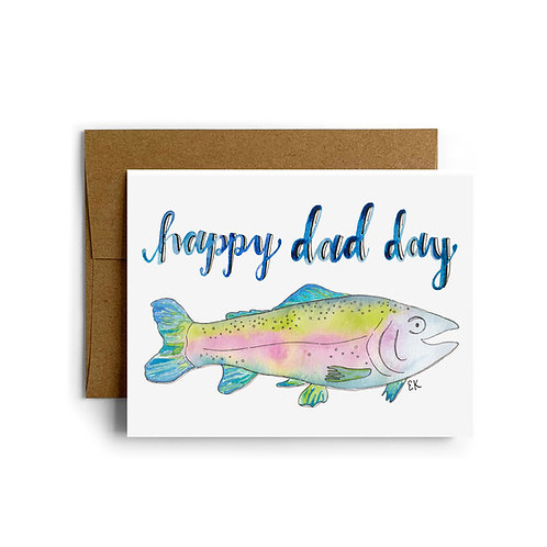 Father's Day Trout Greeting Card