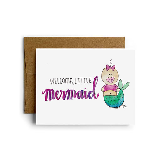 Baby Mermaid Greeting Card