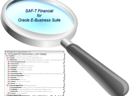 SAF-T Financial for Oracle E-Business Suite