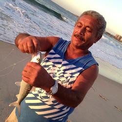 Pescador em Copacabana