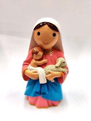 聖母抱小耶穌與羔羊像 / MOTHER HUG BABY JESUS AND SHEEP STATUE