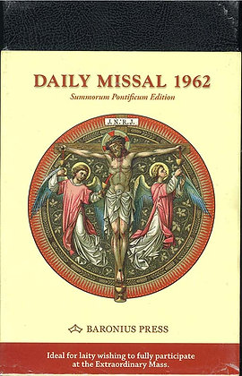DAILY MISSAL 1962(Eng,Latin/BLK Leather/Baronius)