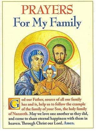 Prayers For My Family (Folding Prayer Card)