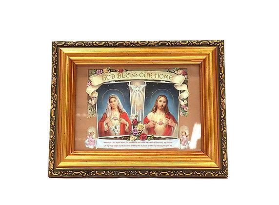 耶穌聖心和聖母聖心家庭祝福牌 / SACRED HEARTS FAMILY BLESSING