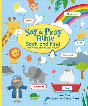 SAY AND PRAY BIBLE SEEK AND FIND (Board book)