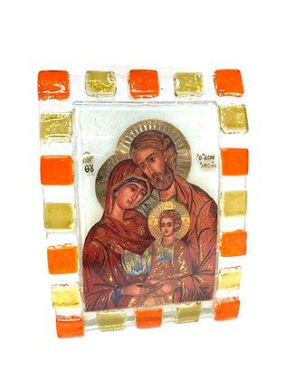 座枱聖家聖像畫擺設 / ICON HOLY FAMILY DESKTOP PLAQUE