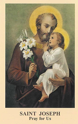 SAINT JOSEPH - Pray for Us (Tan-Card)