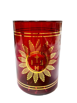 祭台紅色玻璃蠟燭座 / RED GLASS ALTAR OIL CANDLE