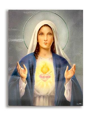 聖母聖心聖牌 / SACRED HEART MARY WALL PLAQUE