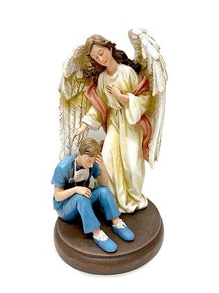 守護天使守護醫護人員像 / GUARDIAN ANGEL WITH HEALTH CARE MAN STATUE