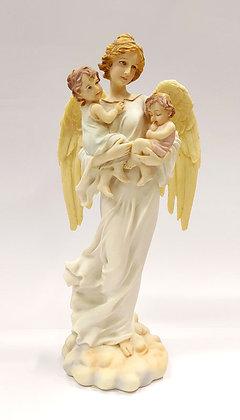 守護天使抱小孩像 / GUARDIAN ANGEL HOLDING KIDS STATUE