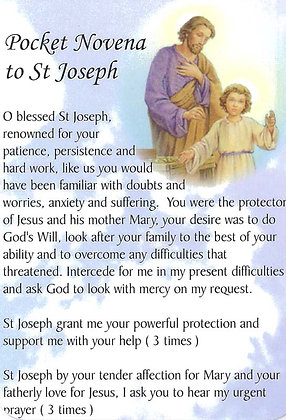 POCKET NOVENA TO ST JOSEPH-Card #JN107