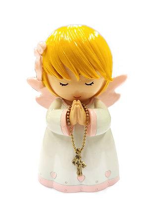 粉紅色守護天使祈禱像 / PINK GUARDIAN ANGEL PRAYING STATUE