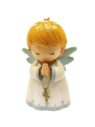 粉藍色守護天使祈禱像 / BLUE GUARDIAN ANGEL PRAYING STATUE