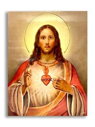 耶穌聖心聖牌 / SACRED HEART JESUS WALL PLAQUE
