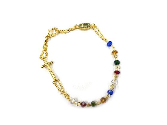 彩色半水晶唸珠手鏈 / COLOR SEMI CRYSTAL ROSARY BRACELET