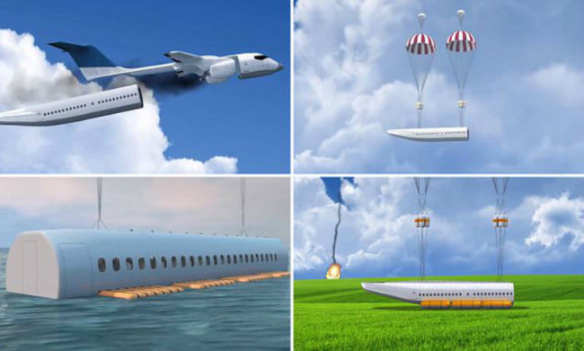 Detachable cabin invented to save lives during plane crashes