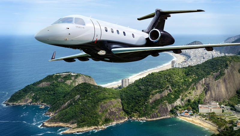 Embraer Increases the Range of its Legacy 450 business jet