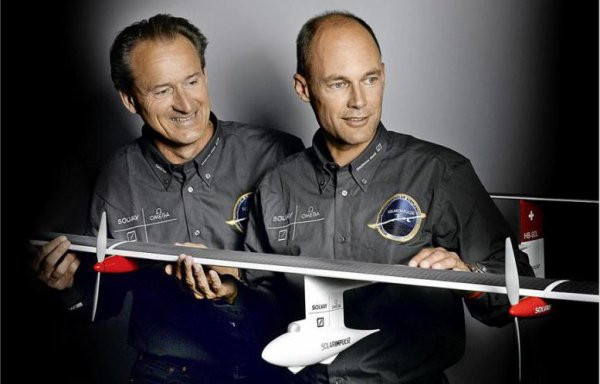 Pilot André Borschberg, also co-founder of Solar Impulse with Bertrand Piccard