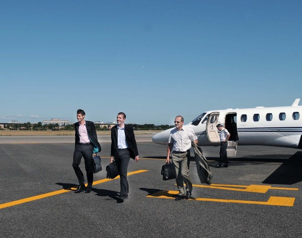 Booking a private jet