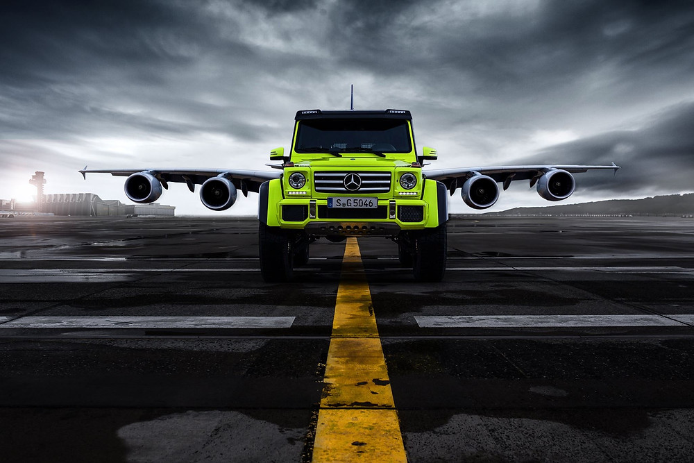 Mercedes-Benz G 500 4×4² and Airbus A 380