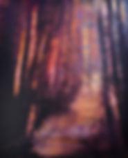 peinture paysage abstrait poétique bleu sombre nocturnesviolet