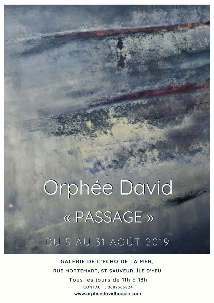 Affiche exposition Yeu orphée Boquin