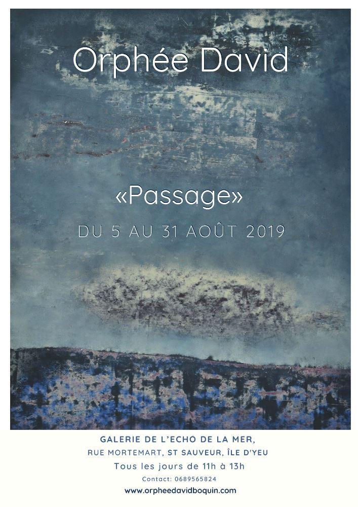 Affiche exposition Ile d'Yeu Orphée David Boquin