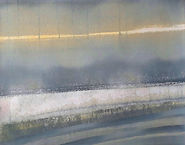 Peinture abstraite et contemporaine lumineuse gris