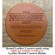 Leather Round Coaster Blanks - 3 Sizes to choose from 3-1/4 in. - 3-5/8 in. - 4-1/8 in. - OhioLeatherCompany.com -02