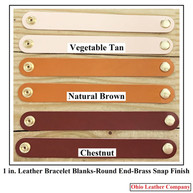 1 in.-Round End Leather Bracelet Blanks - OhioLeatherCompany.com - Choose from 8 Assorted lengths -06