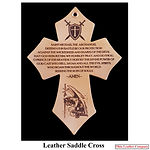 Leather Saddle Cross made with Leather Saddle Cross Blank from Ohio Leather Company