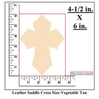 Leather Saddle Cross Blank Size - OhioLeatherCompany.com