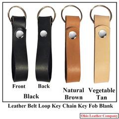 Leather Belt Loop Keychain Key Fob Blank - OhioLeatherCompany.com