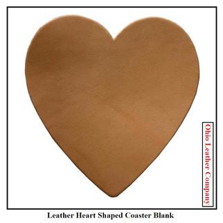 Leather Heart Coaster Blank - OhioLeatherCompany.com -1